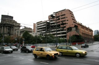 Evidence of Belgrade bombings from NATO airstrikes