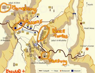 Map of Petra Site