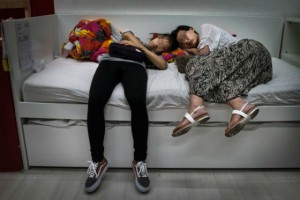 Chinese sleep in IKEA