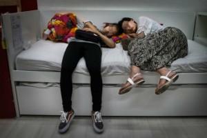 Chinese sleep in IKEA
