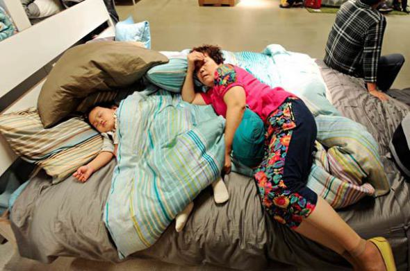 Beijing Ikea bans sleeping on furniture displays, customers continue to snooze with abandon