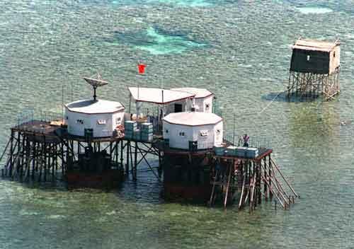 Old installation at Gaven Reef - Spratly Islands