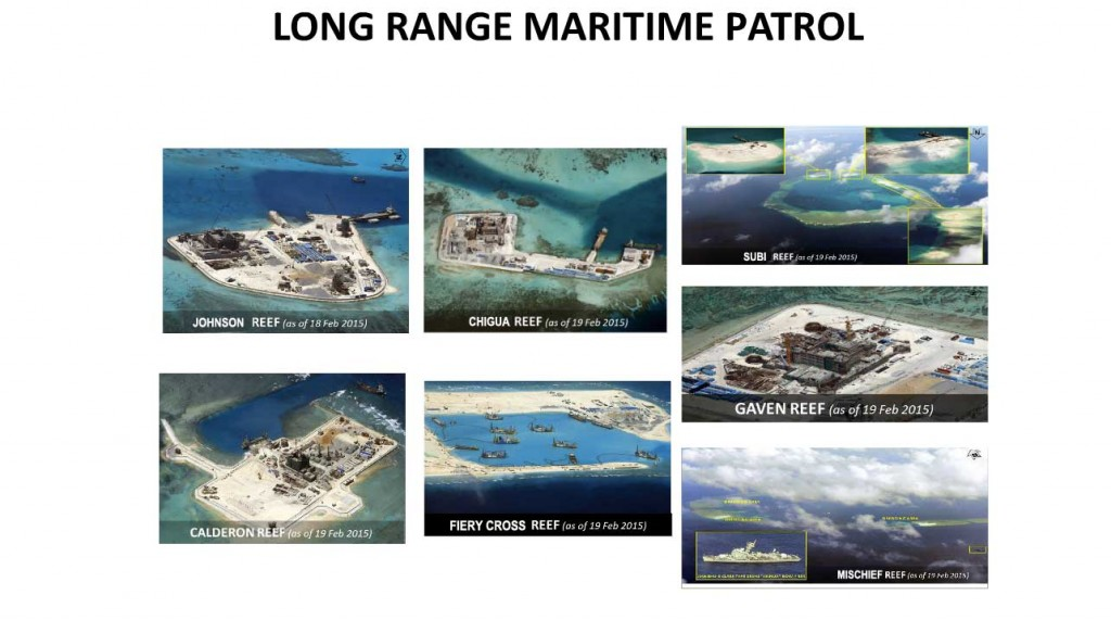 Land reclamation works by the Chinese on Spratly Islands.