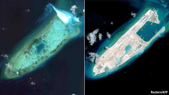 Fiery Cross Reef - Aerial view