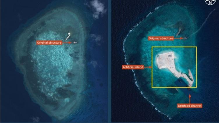 Gaven Reef aerial view