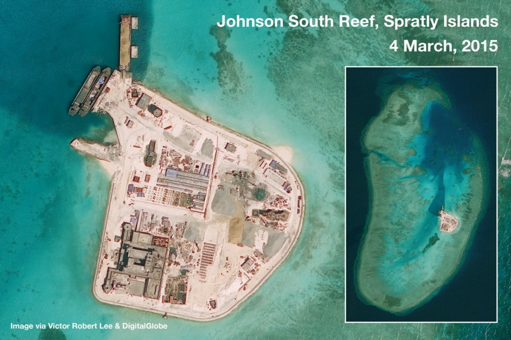 Aerial Photograph of Johnson South Reef