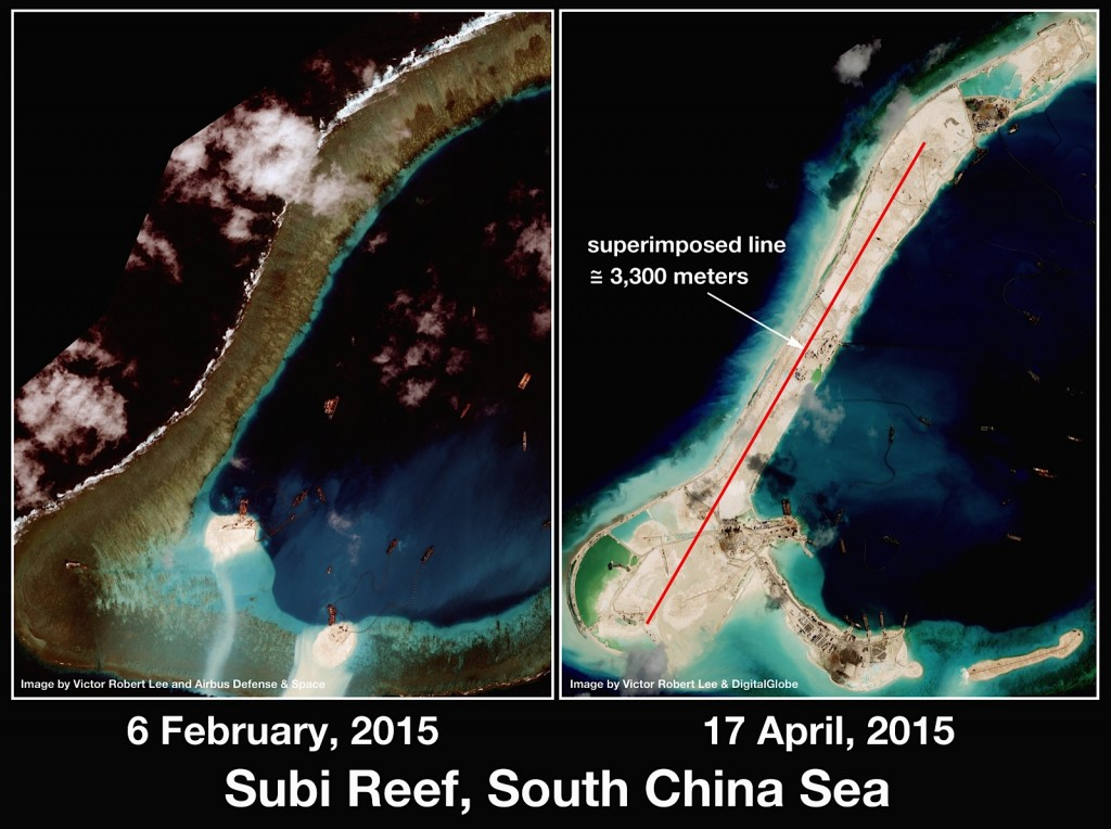 Land reclamation on Spratly Islands, Subi Reef