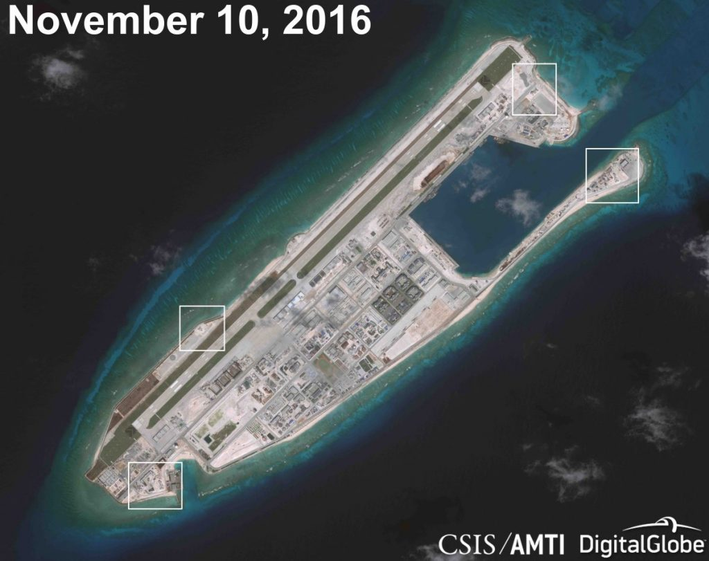 Fiery Cross reef, Aerial photos
