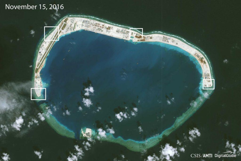 Mischief Reef, Aerial photos.