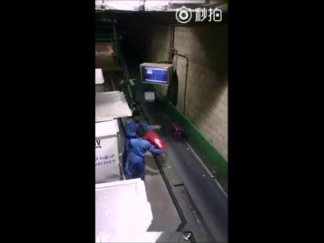 Chinese baggage handlers