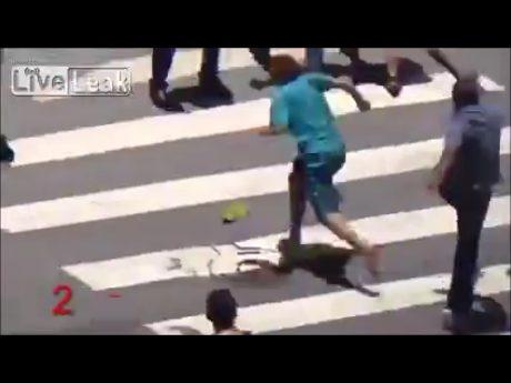 Street robber in Rio, Brazil