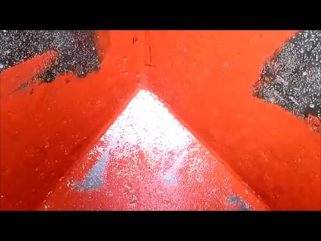 Red oxide coating watertank