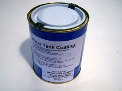 Narrowboat watertank coating