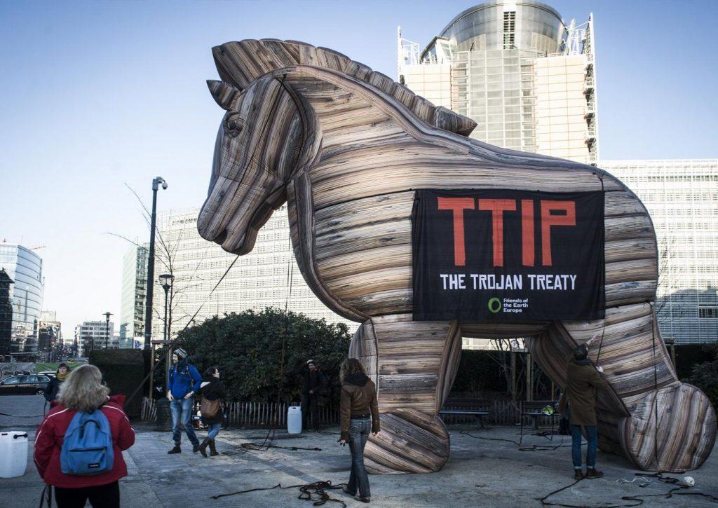 TTIP trojan horse pictured