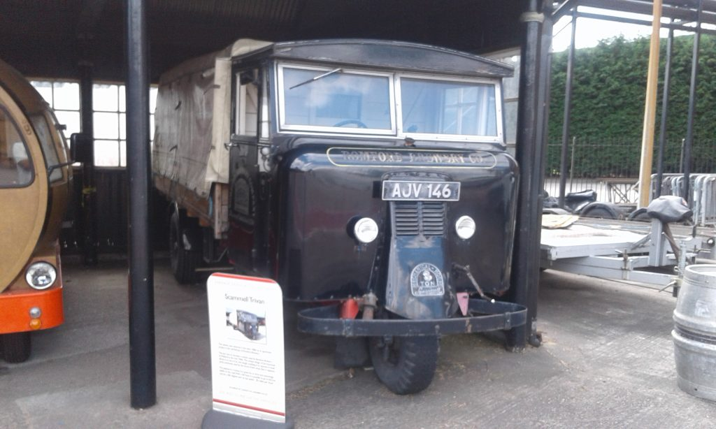 Scammell Trivan - Three wheel brewing truck