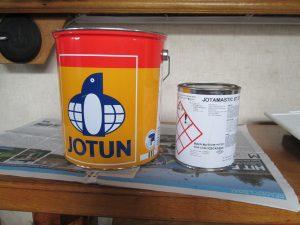 Jotun 2 pack epoxy for narrowboats.
