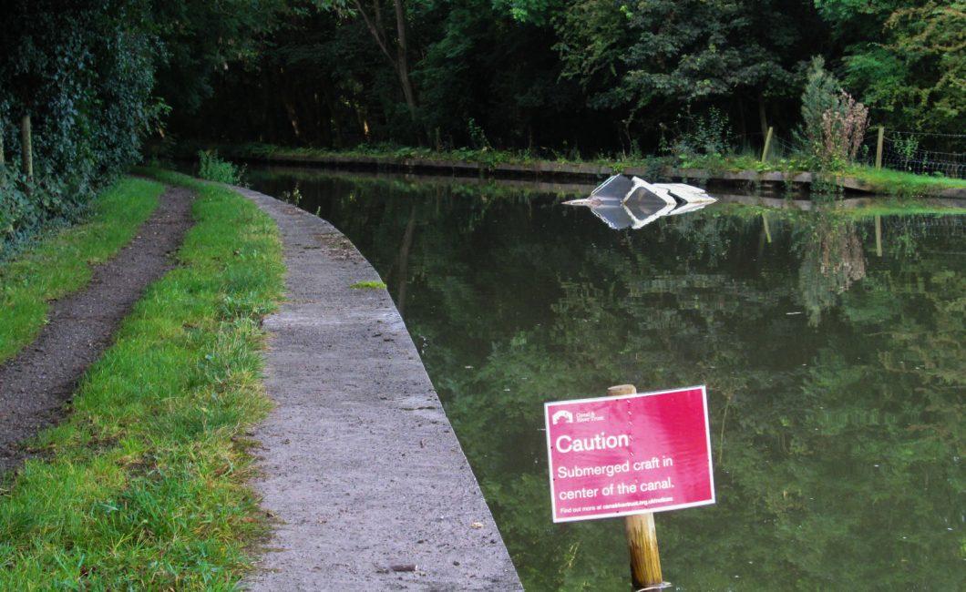 Sunk boat at Marston