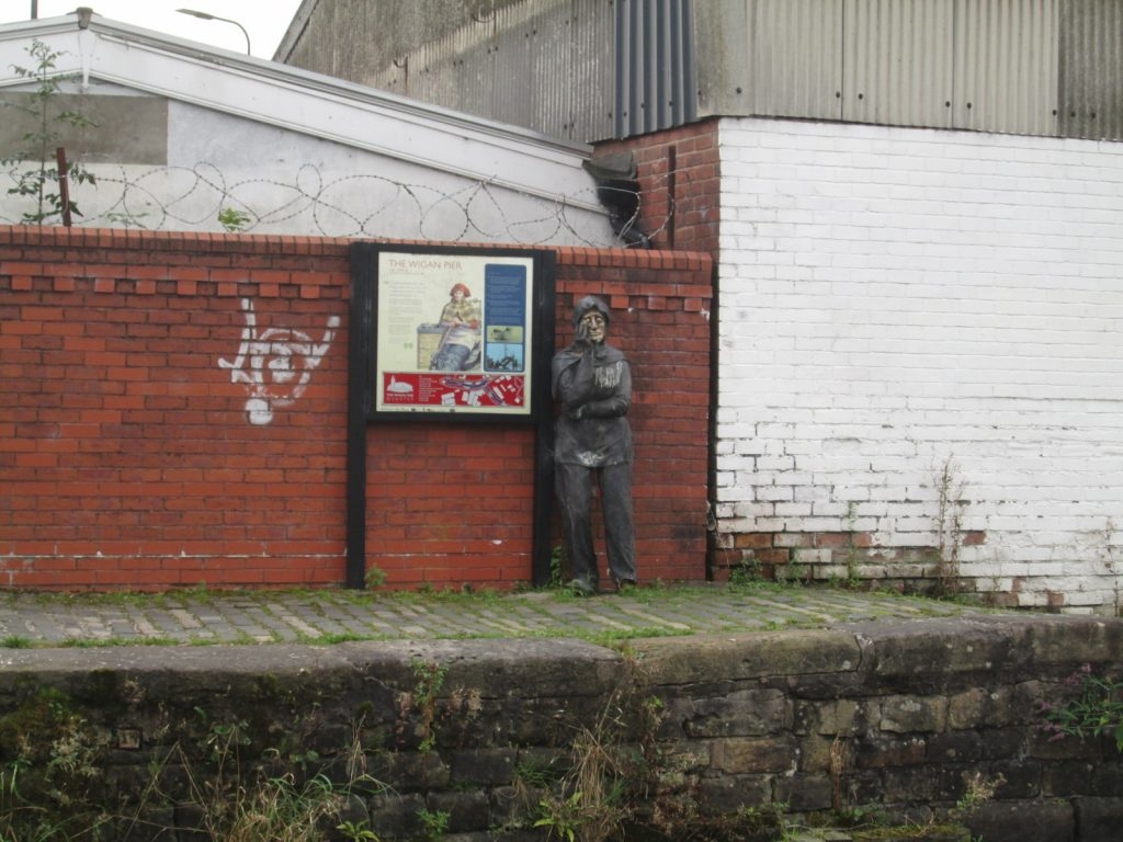 Old man statue opposite WIgan Pier