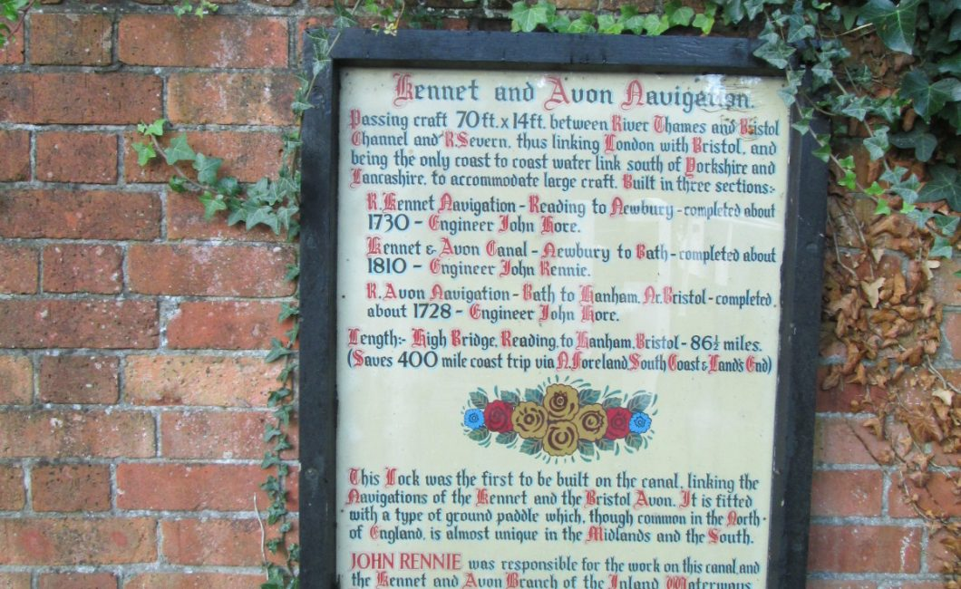 Newbury Kennet and Avon canal plaque