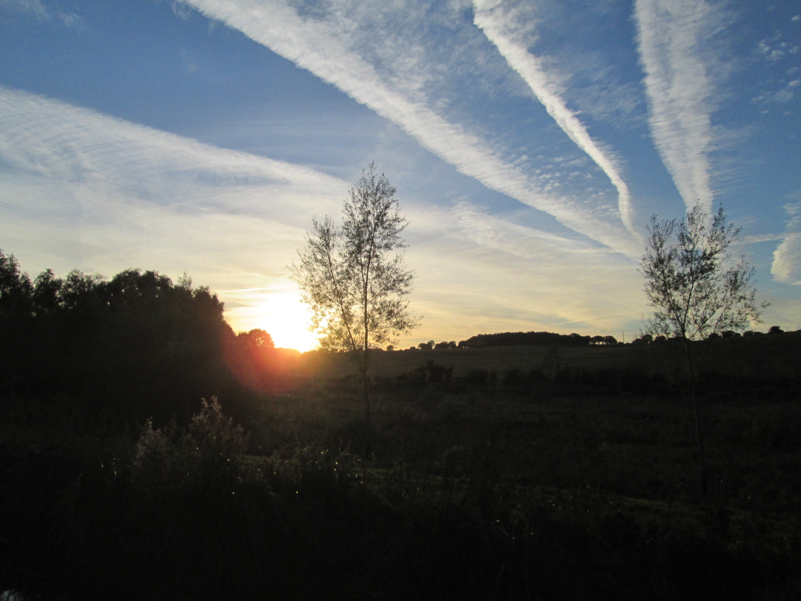 Sunset in Little Bedwyn