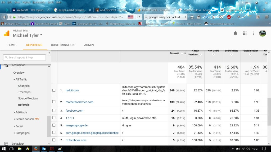 Google analytics hacked