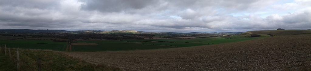 View across Pewsey vale.