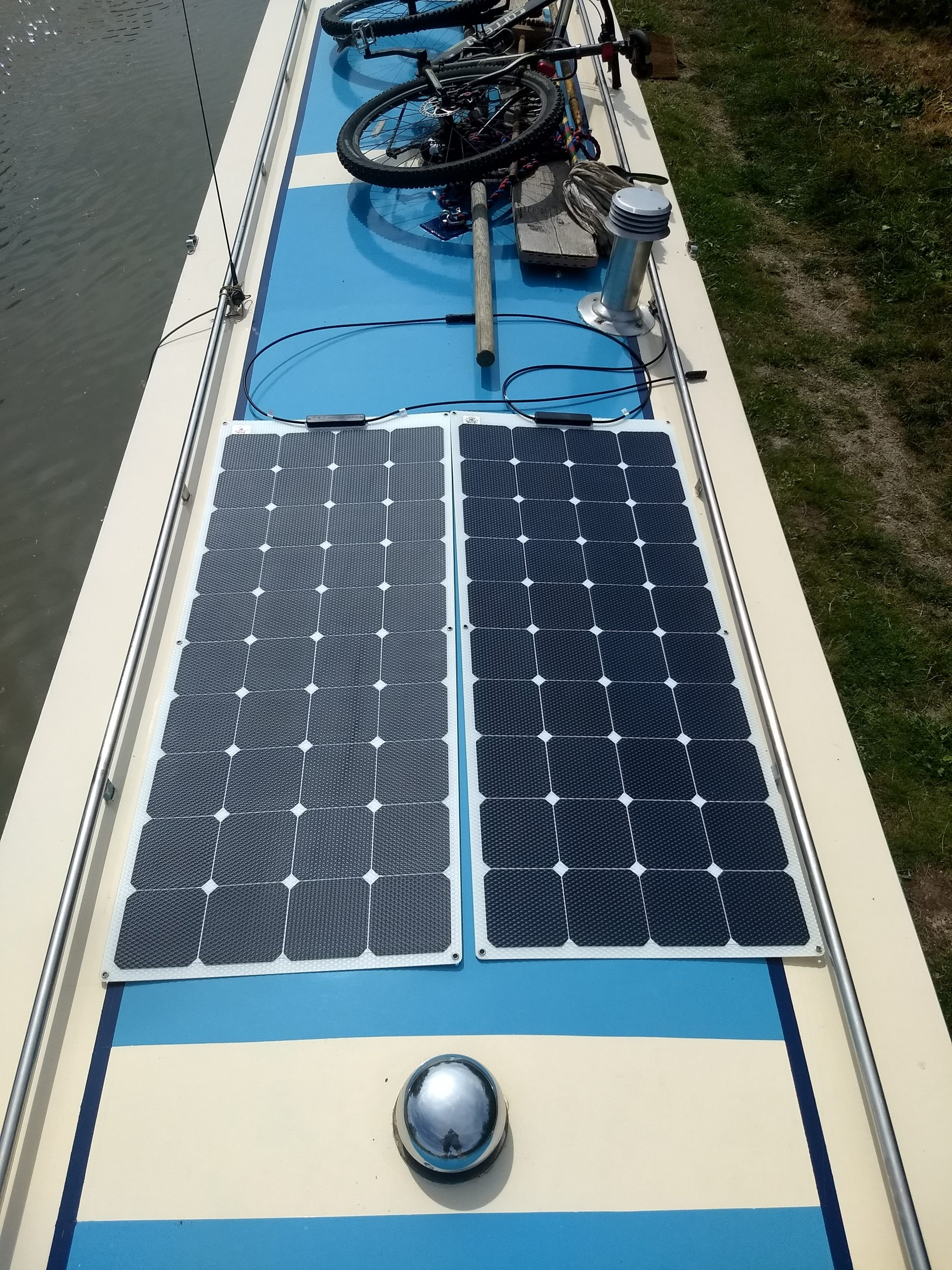 Solar Panels For Boats >> Fitting Flexible Solar Panels To A Narrowboat Continuous Cruising