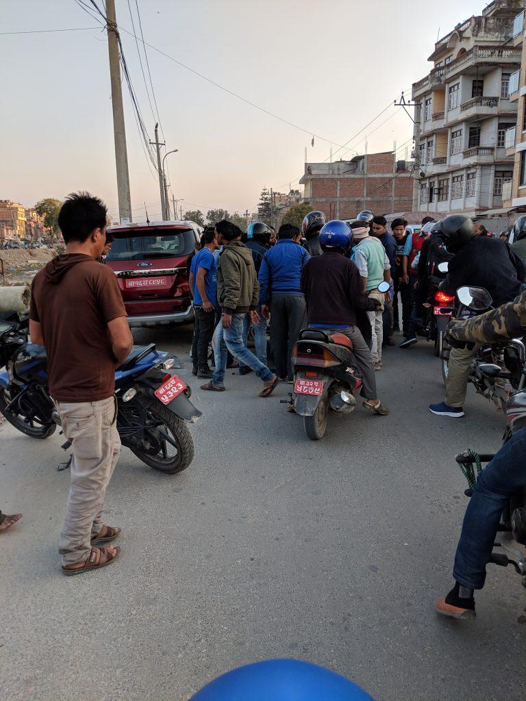 Motorcycle Accident - Kathmandu