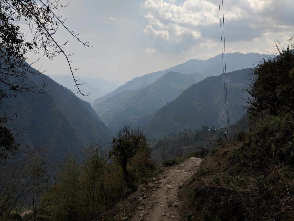 View from Sinuwa down the valley