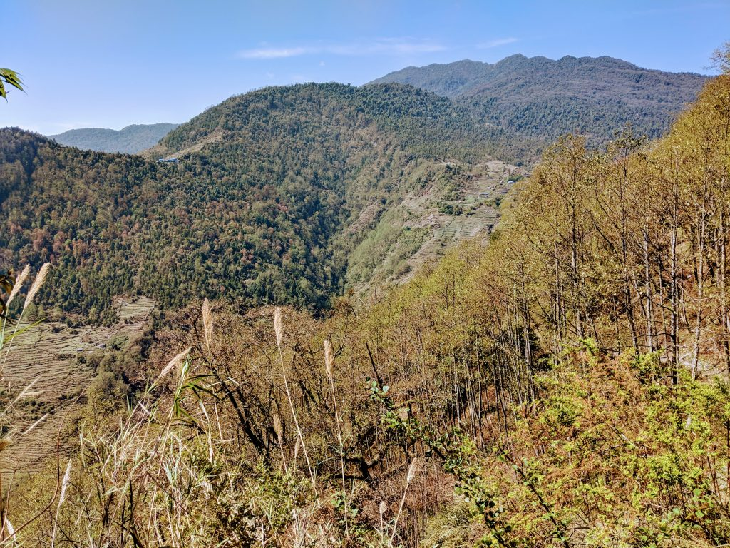 View South across the Modi Valley from Chhomrong