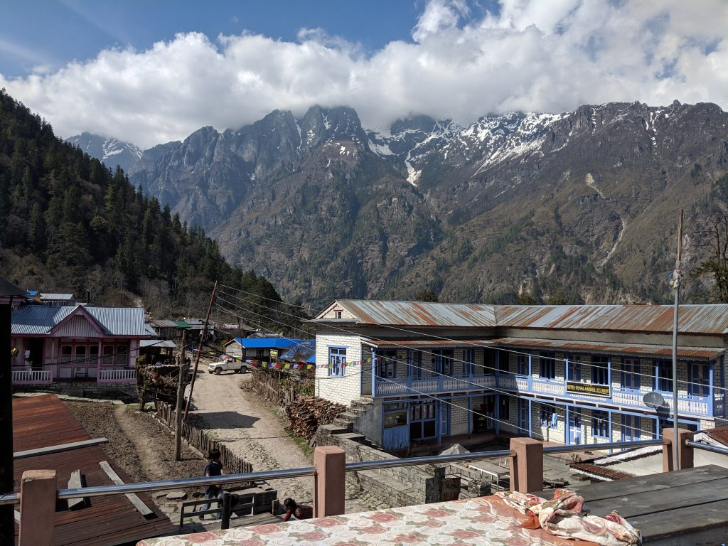 View North from accommodation in Timang
