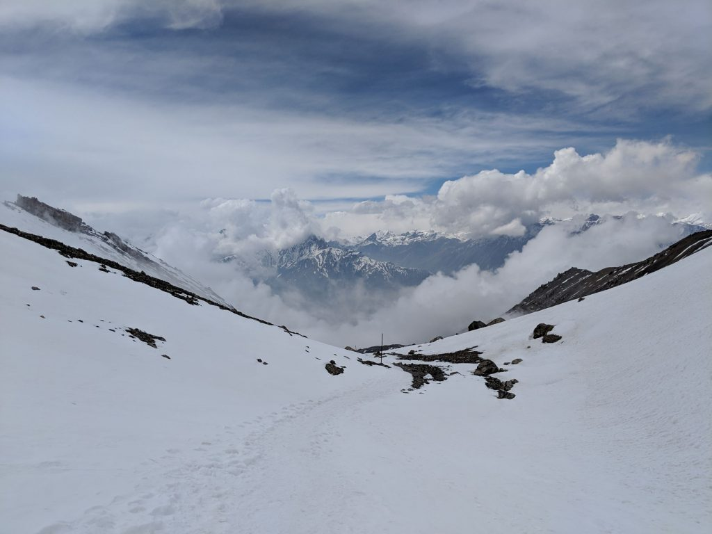 View West from Thalong La - Himalayas