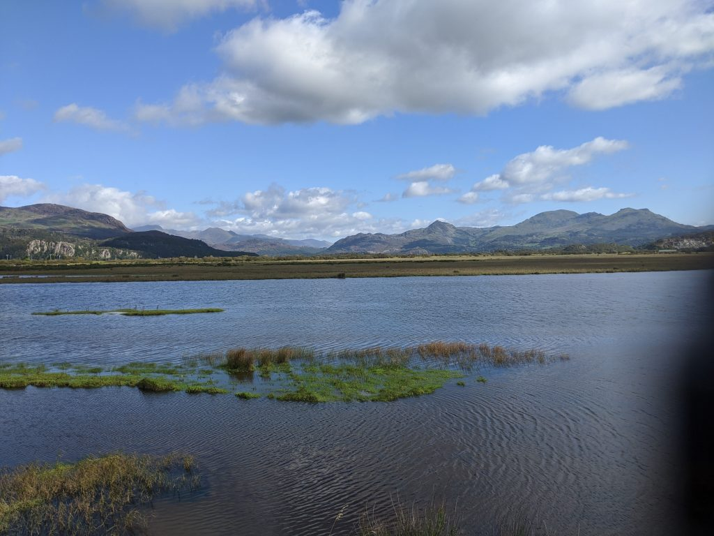 A view across the estuary at Porthmadog