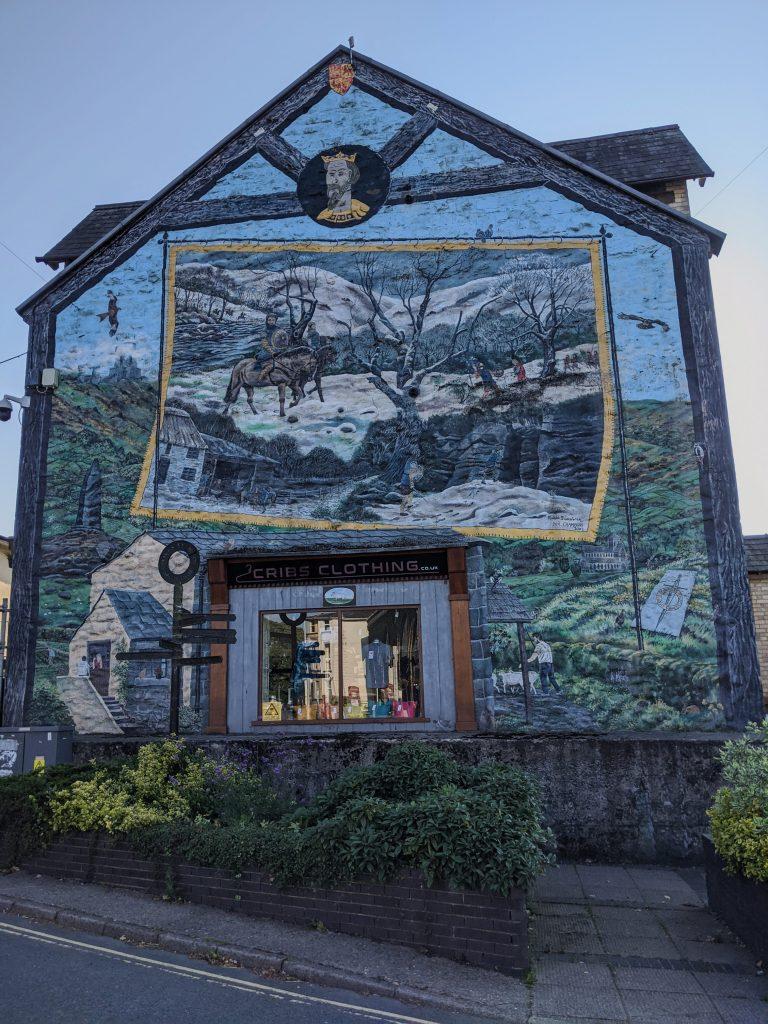 Llywelyn ap Gruffydd - cribs clothing mural builth wells