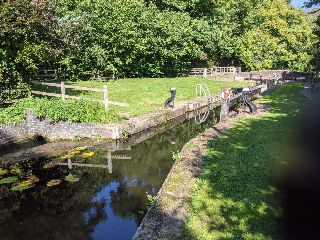Aberbechan lock - Montgomery canal