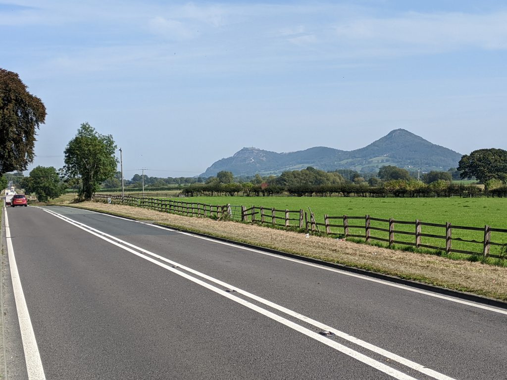 Breidden Hill from the A483