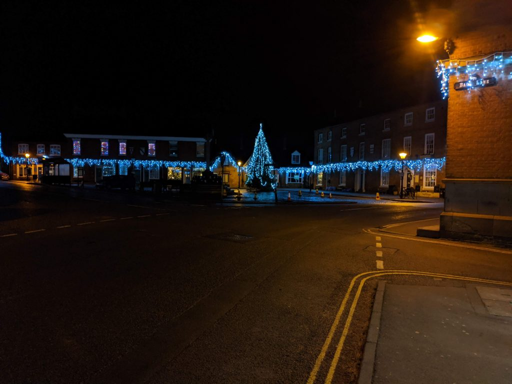 Market Bosworth Christmas lights
