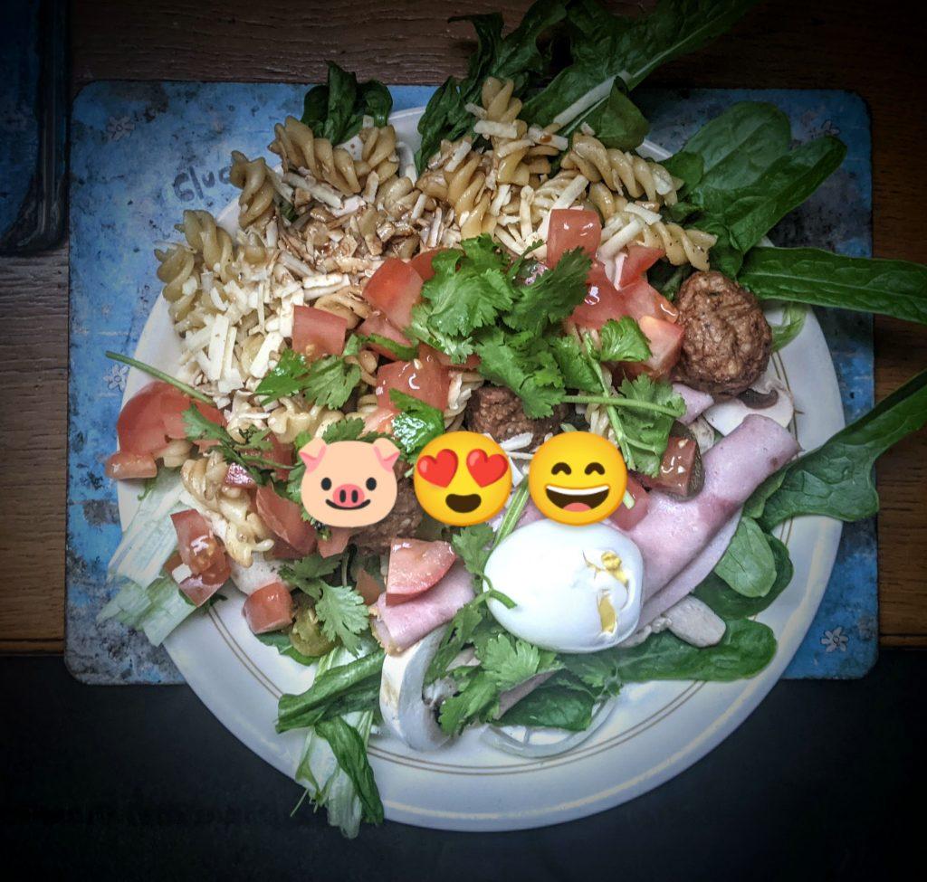 Cheese and meatball salad - 9/6/2021