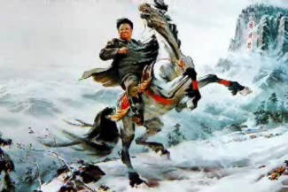 kim-jong-il-propaganda-posters-06-riding-horse-on-mountain_6575215909_l.jpg